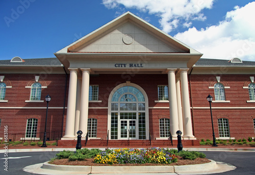 Photo local city hall building