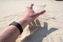 Reaching For Water In Desert