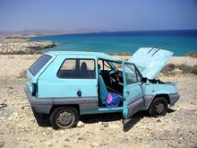 Autowrack Am Meer