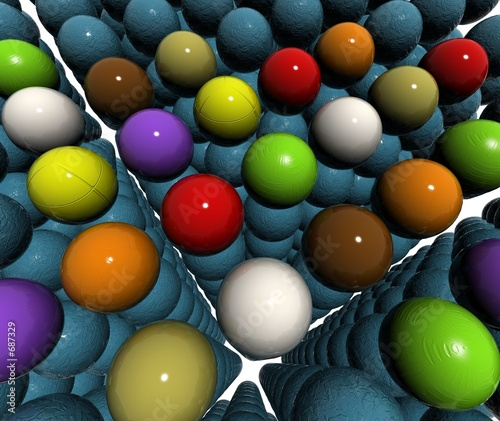 blue 3d balls bump texture field - Buy this stock
