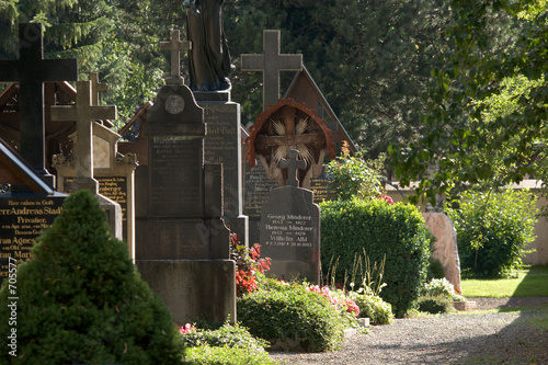 Recess Fitting Cemetery friedhof im morgenlicht