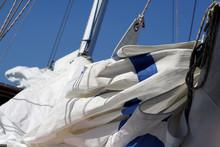 Hoisting The Main Sail