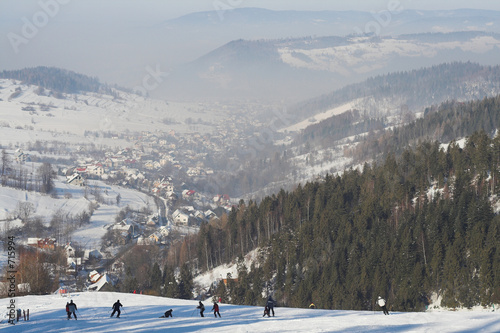 winter-at-mountains-beskid-poland