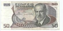 50 Austrian Schiilings (reverse)