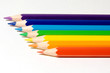 canvas print picture - seven pencils of color of a rainbow