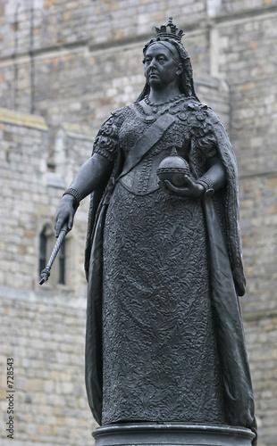 Obraz na płótnie queen victoria statue