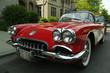 canvas print picture - little red corvette