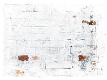 White Grungy Bricks Background