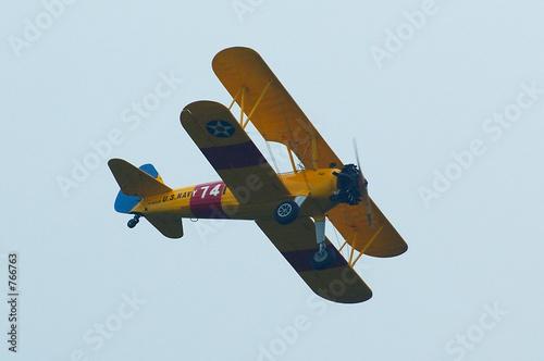 Foto biplan en vol