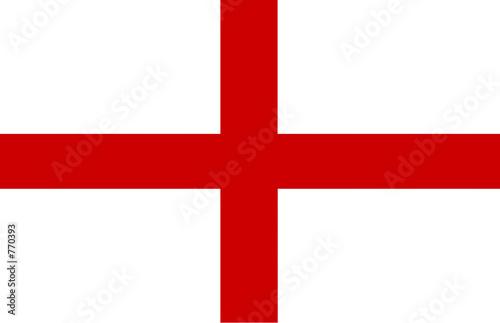 england flag simple Wallpaper Mural
