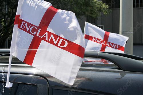 Photo  england car flags