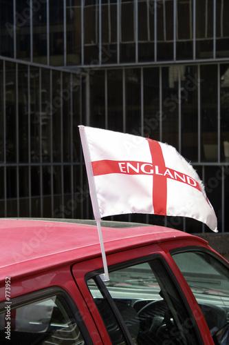 Photo  england car flag