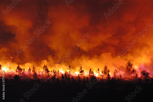 incendie Canvas Print