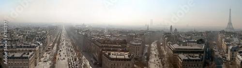 Photo Stands Paris paris landscape from the top of triumph arch