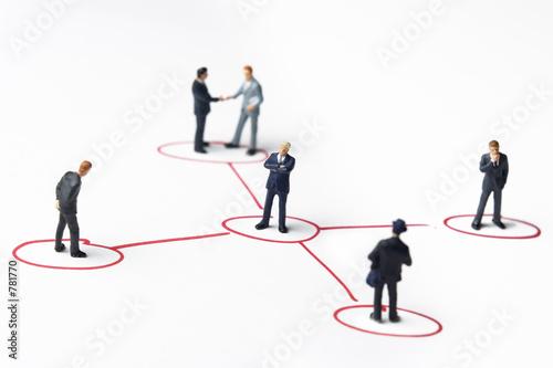 Fotografie, Obraz  business networking