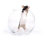 canvas print picture - glass of... mouse