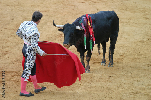 La pose en embrasure Corrida bullfighting in seville