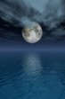 canvas print picture full moon