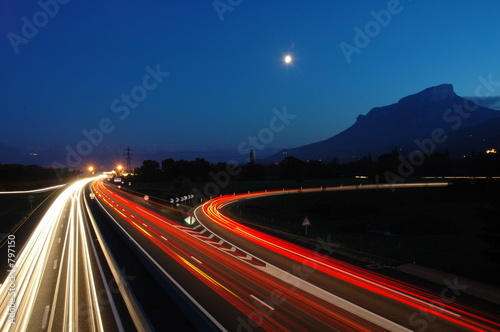 Photo autoroute nuit