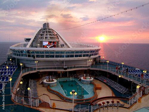 Fotomural cruise ship