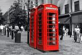red phonebooth in london - 802356