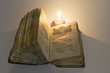 canvas print picture - old religious book