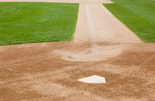 Home Plate And First Base Line