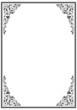 Leinwandbild Motiv frame with ornament 03