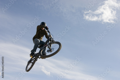 mountain bike jump in air