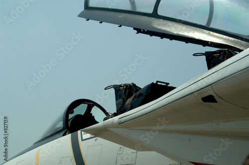 f-16 fighter jet - open canopy, closeup of cockpit - Buy
