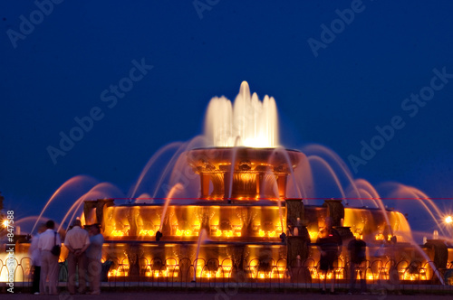 buckingham fountain Wallpaper Mural