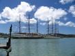 sailboats on caribbean