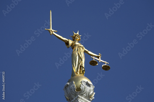 statue of justice Wallpaper Mural