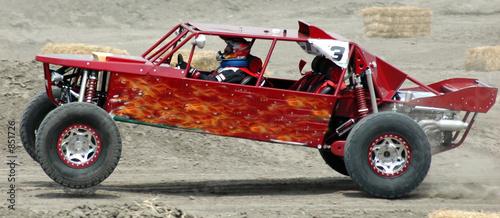 Foto op Aluminium Motorsport red sand car