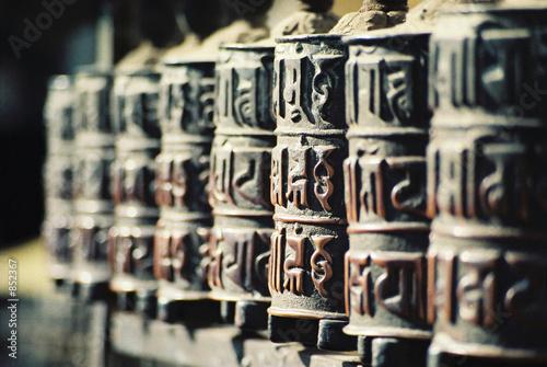 Wall Murals Nepal prayer mills