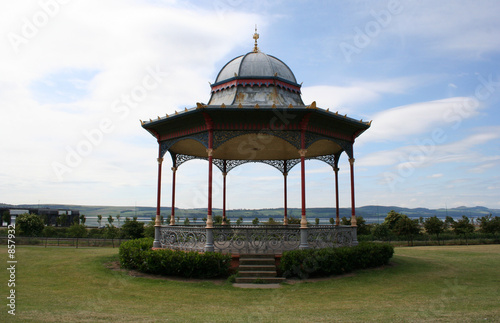 bandstand in park Canvas Print