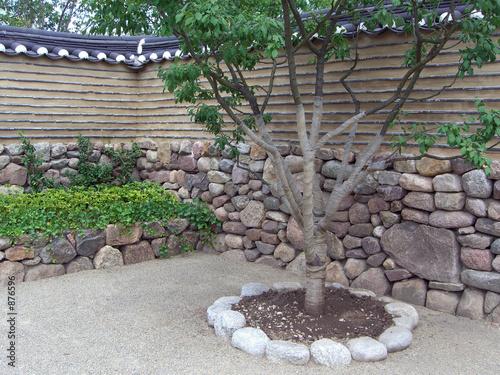 Photo  orientalischer steingarten