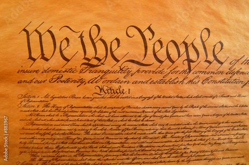 Obraz na płótnie Konstytucja Stanów Zjednoczonych