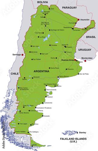 Map Argentina Landkarte Argentinien Buy This Stock Illustration