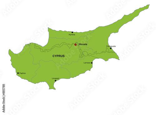Map Cyprus Landkarte Zypern Buy This Stock Illustration And