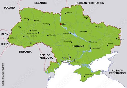 Map Ukraine Landkarte Ukraine Buy This Stock Illustration And