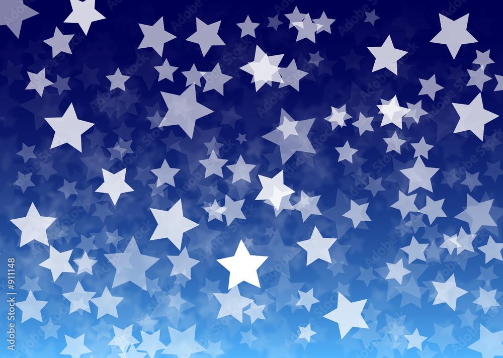einzelne bedruckte Lamellen - stars background blue