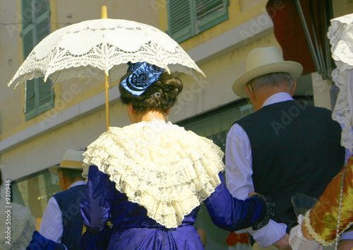 Coiffe et ombrelle Canvas Print