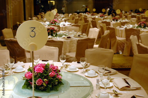 Canvas Print chinese wedding banquet table setting