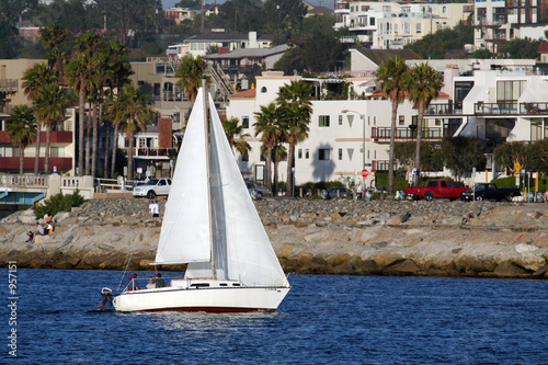 sailboat under way