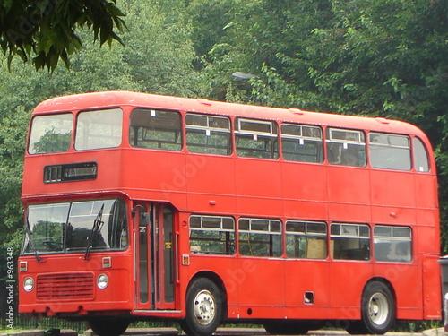 double decker bus Tablou Canvas