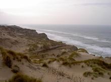 Brandende Küste An Den Dünen