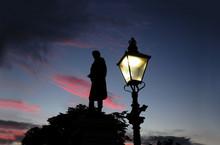 Robert Burns Monument At Sunset In Aberdeen