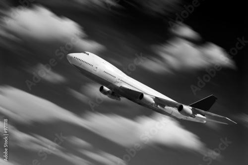 Fotografering  flug flugzeug