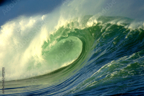 Stickers pour porte Eau waimea bay wave